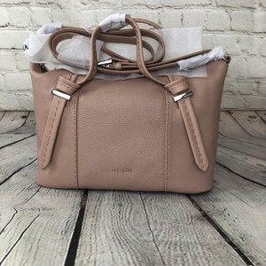Ted Baker Crossbody Leather Tote Bag Taupe NWT